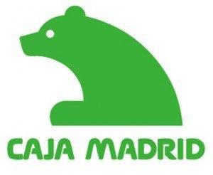 Caja Madridのロゴ。マドリッド市のロゴが熊とトチノキなところから来ています。