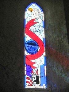 米国旗のステンドグラス