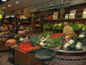 色とりどりの野菜の美しいこと。
