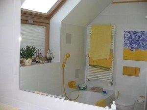 お風呂場。この黄色のアクセントが気に入りました。