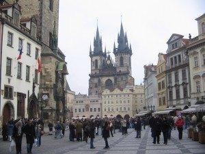 中央広場はおとぎの国のようです。