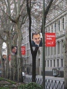 Zapateroの選挙ポスター。