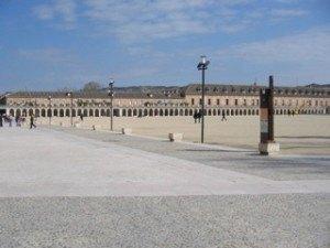 王宮の横の広場。本当に広いです!