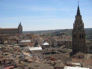Iglesia de los Jesuitasから見えるトレドの景色。