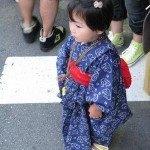 小さい子の浴衣姿は本当に可愛いです!この浴衣はプーさん☆