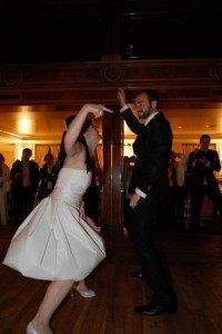 息がぴったりの二人のダンス