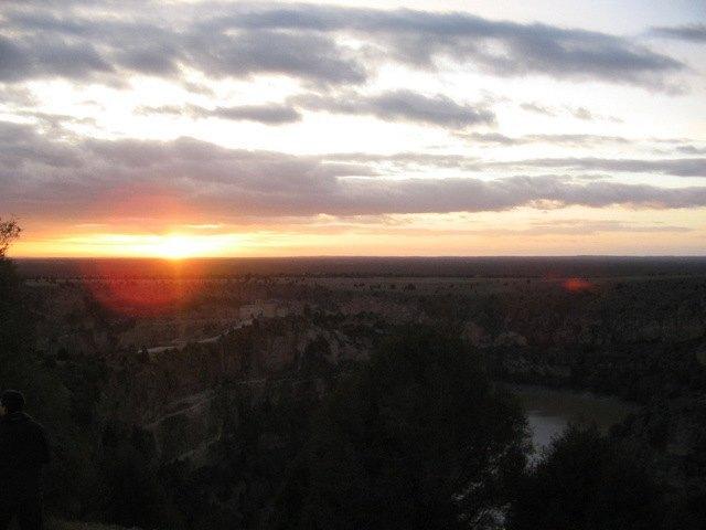 峡谷の日暮れ