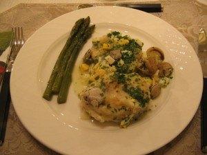 ディナーの二皿目のお料理。