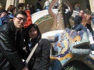 トレンカディスで有名なグエル公園のシンボルとも言えるドラゴン。