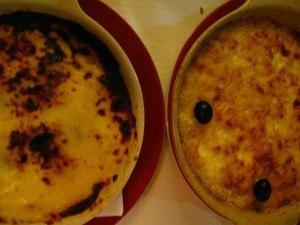 タラとジャガイモに生クリーム、チーズのソースがかかっているもの。オリーブも添えられてとても美味しかったです。