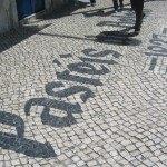 お店の入口の舗道もPastéis de Belém!