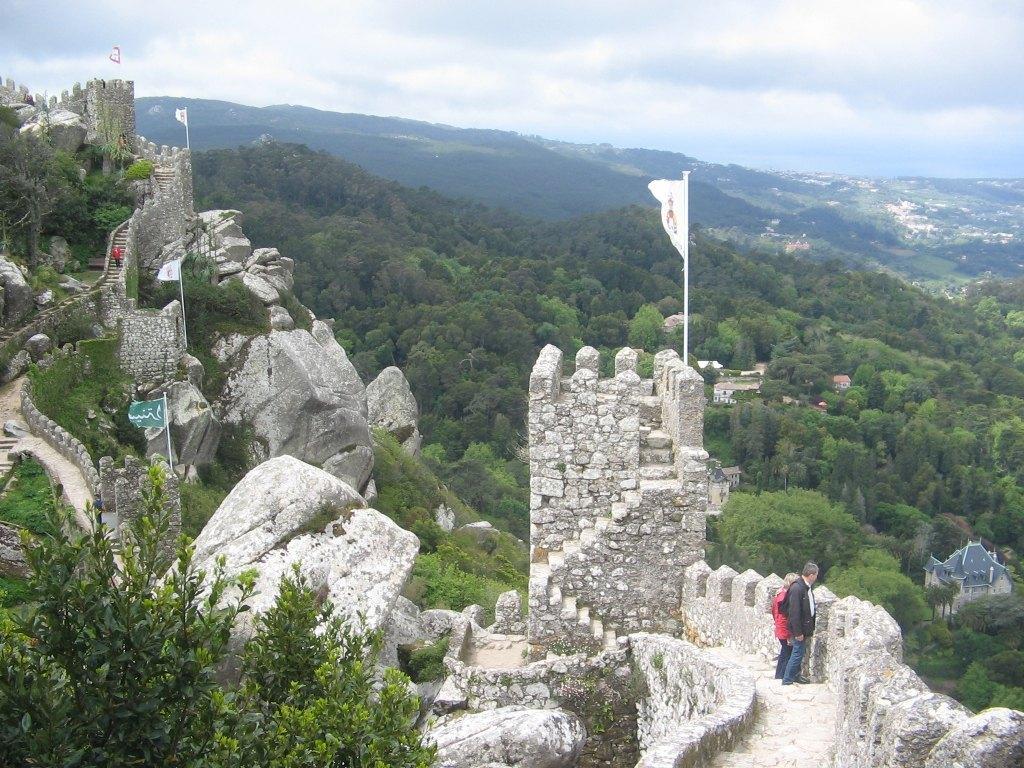 ムーア人の城。このお城からの眺めは最高でした。