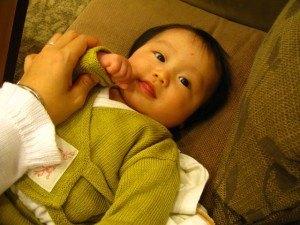 次女。4ヶ月でまだちっちゃかったです。笑顔が可愛くて癒されました。