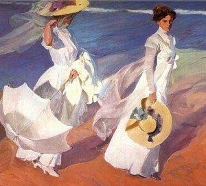 ホアキン・ソロヤの代表作の一つ「浜辺の散歩」