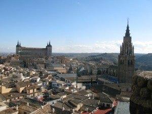 San Ildefonso教会の塔から見たトレドの街並み