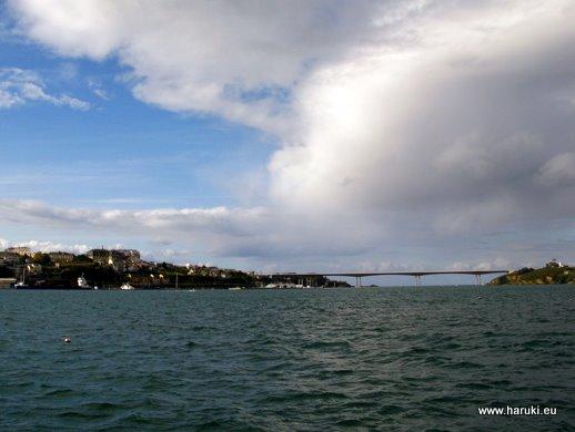カストロポールから見た入り江。干潮時には地面が顔を出すほどです。