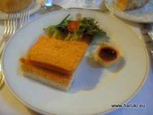 Pastel de Cabrachoと呼ばれるパテとラズベリーソース。
