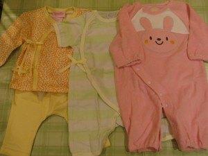 姉より、新生児用の服。和風の感じが出ていて可愛いです。