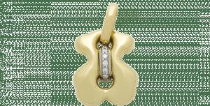 金とダイヤのペンダントトップ。