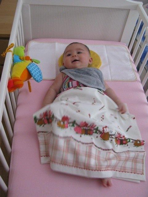 赤ちゃんも広いスペースが好きみたいです。