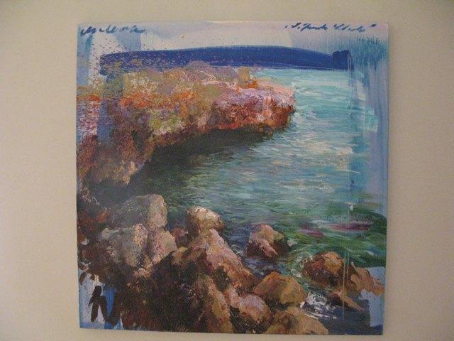 マヨルカの美しさを描いた風景画も沢山ありました。