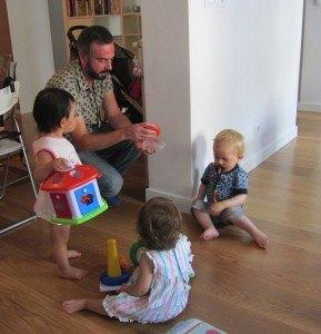 子供達も遊んでもらって大満足。
