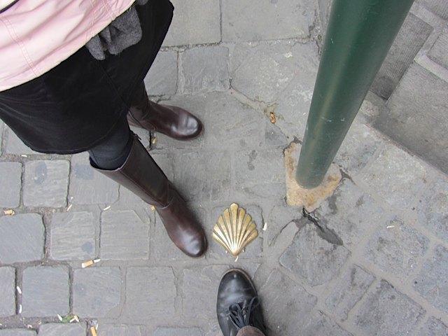 通りに帆立貝のマークを発見!