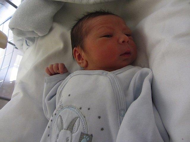 生後二日の健斗。かおりと比べるとぷっくりしています。