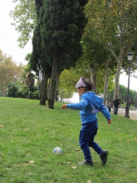 ボール遊びが大好きなかおり。まだまだ相手はできますが、だんだん大変になりそうです。