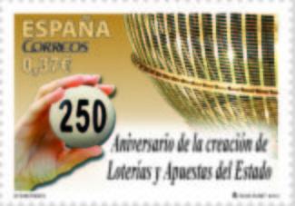 クリスマスの宝くじ250周年を記念した切手が今年スペインで販売されました。早速購入です。