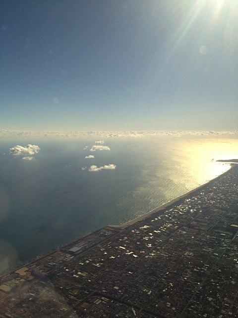 機内から見た日本。「帰ってきたんだなぁ」という感じでした。