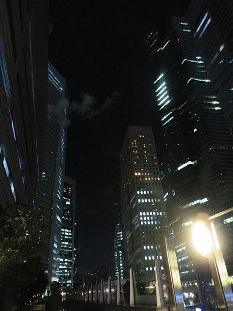 昔の上司と食事をした後。マドリッドには高層ビルがほとんどないので、この景観の違いが新鮮でした。