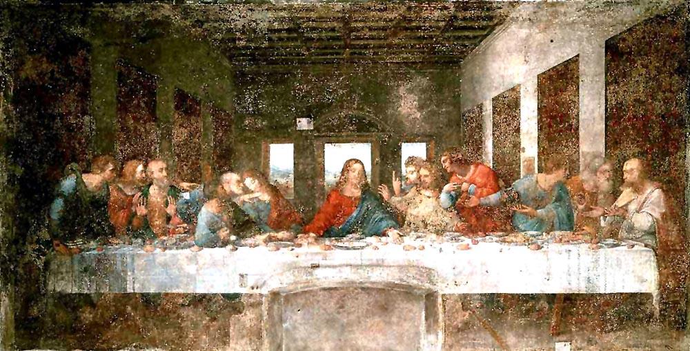 最後の晩餐と言えば、やはりダヴィンチのこの絵でしょう。