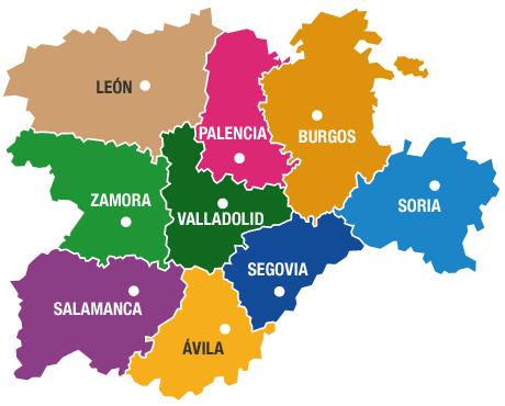 その中のレオン県にサグンはあります。www.destinocastillayleon.es
