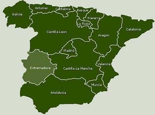 スペイン地図。より。